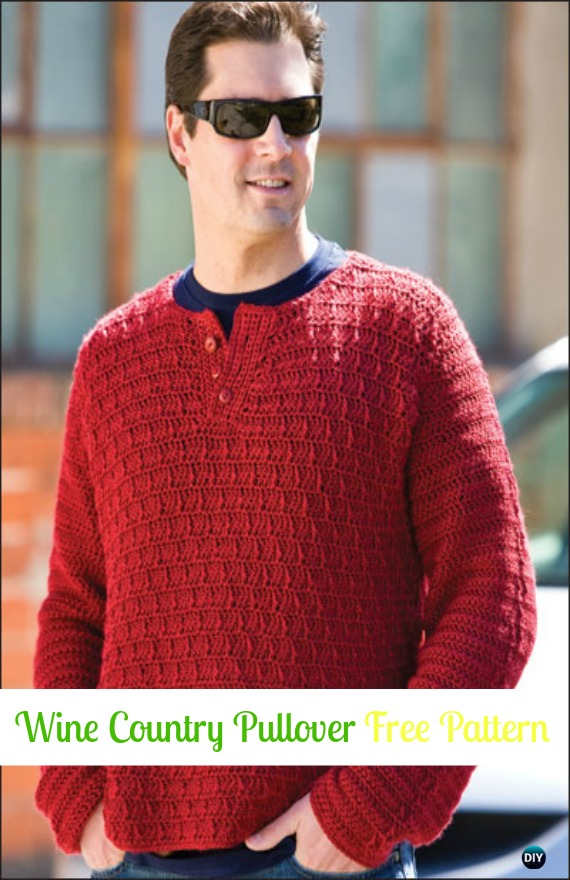 Colorful Free Crochet Sweater Patterns For Men Illustration