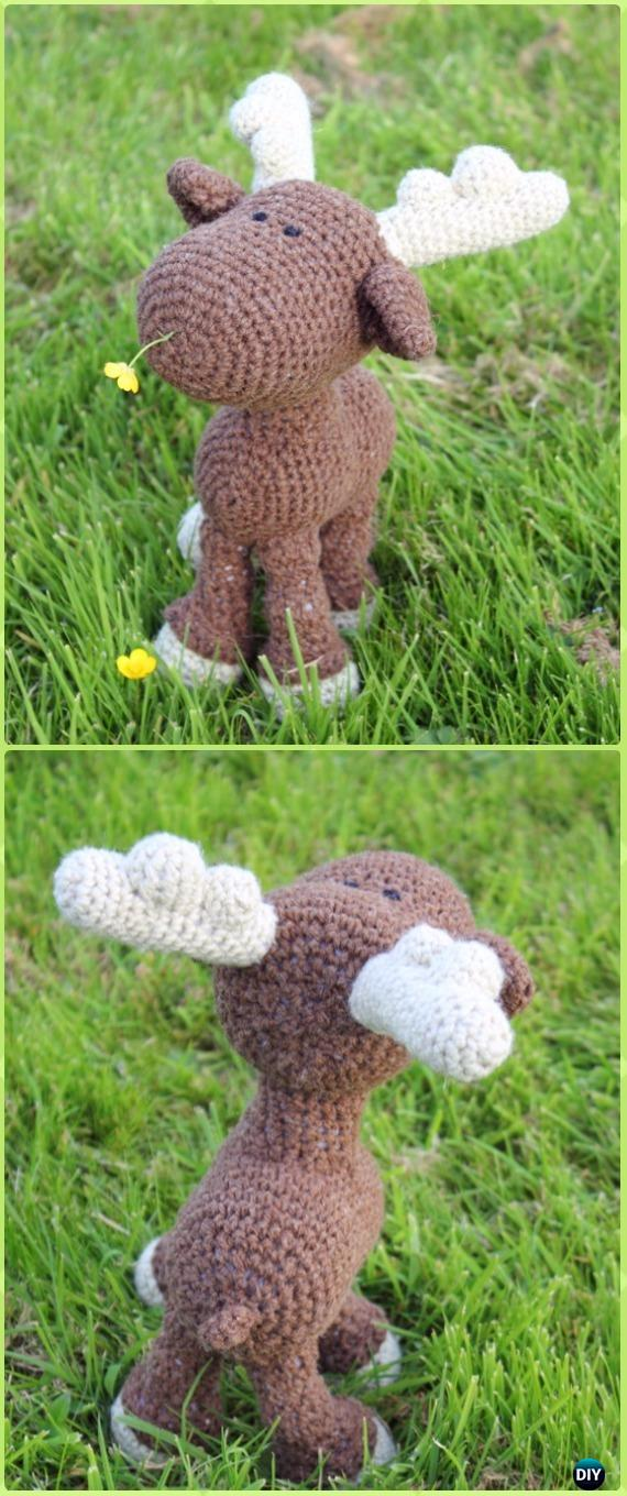 Amigurumi Crochet Moose Toy Softies Free Patterns