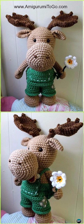 Amigurumi Crochet Moose Toy Softies Free Patterns