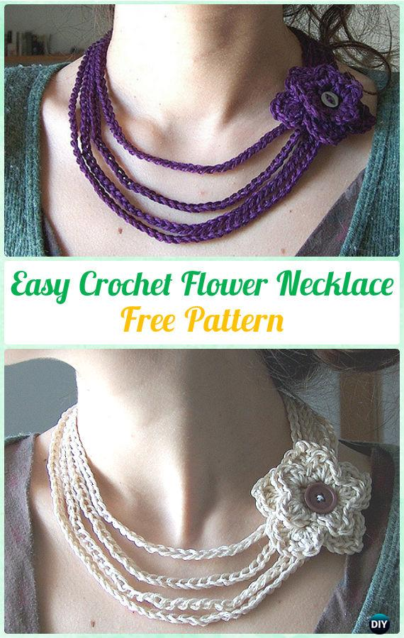 Crochet Necklace Free Patterns Instructions