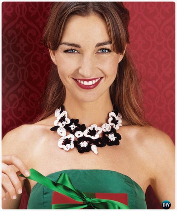 CrochetFlowering Necklace FreePattern