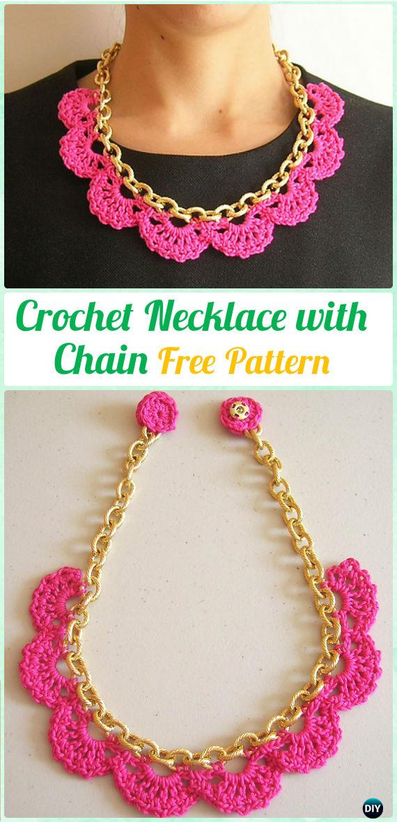 CrochetNecklace with Chain FreePattern