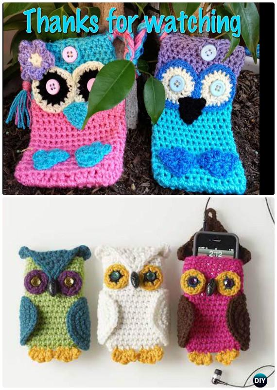 DIY Crochet Owl Phone Cases Free Pattern-Crochet Owl Ideas Free Patterns