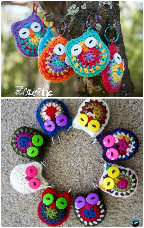 772f05ce1 DIY Crochet Owl Key Chain Free Pattern-Crochet Owl Ideas Free Patterns