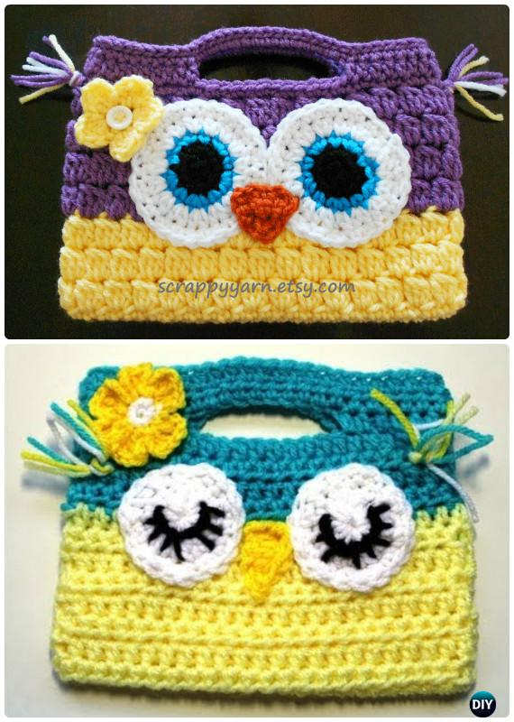 Crochet Owl Handbag Free Pattern-Crochet Owl Ideas Free Patterns