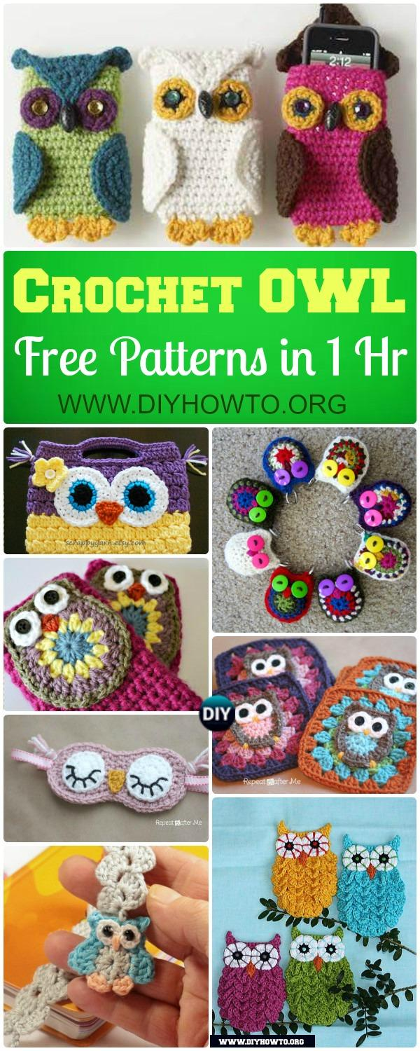 Easy crochet owl free patterns to begin in an hour basic crochet owl appliques to make coasters purse bags keychains and more that bankloansurffo Gallery