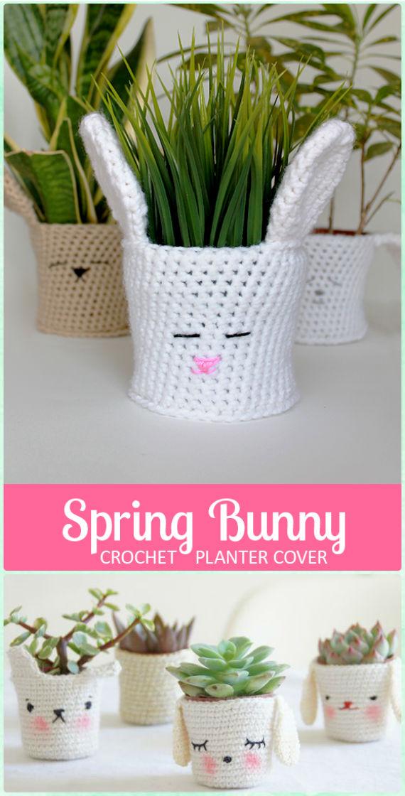 Crochet Plant Pot Cozy Cover Free Patterns \\u0026 Instructions & Crochet flower pot cozy