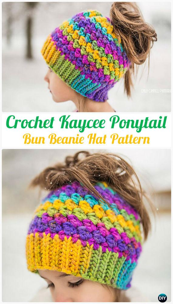 1f4d8901dc3 Kaycee Ponytail or Bun Beanie Hat Kaycee Ponytail or Bun Beanie Hat Pattern  - Crochet Ponytail Messy ...