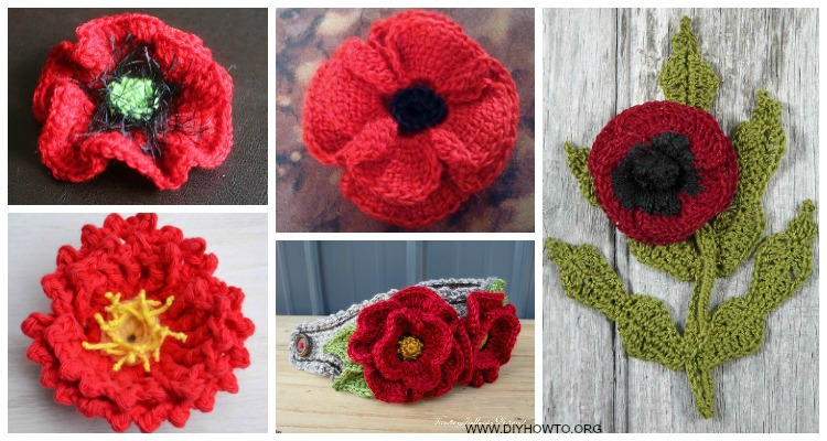 Crochet Poppy Flower Free Patterns