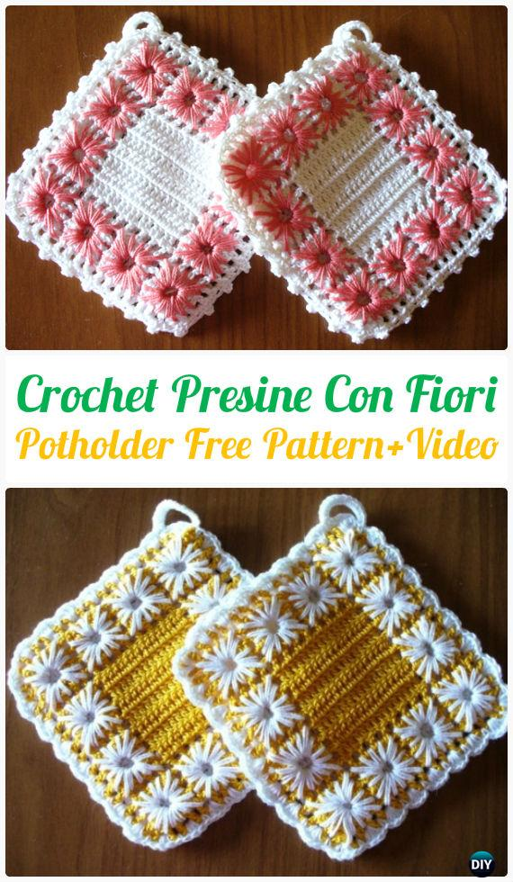 Crochet Pot Holder Hotpad Free Patterns