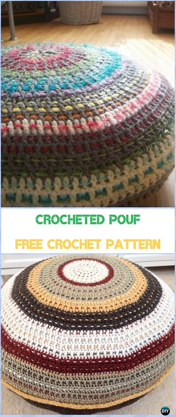 Crochet Poufs Amp Ottoman Free Patterns Amp Diy Tutorials