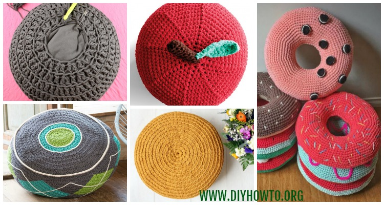 Cool Crochet Poufs Ottoman Free Patterns Diy Tutorials Squirreltailoven Fun Painted Chair Ideas Images Squirreltailovenorg