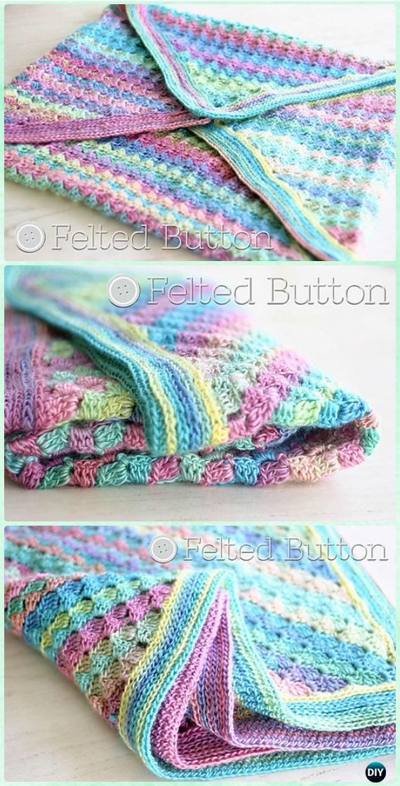 Crochet Spring into Summer Blanket Free Pattern - Crochet Rainbow Blanket Free Patterns
