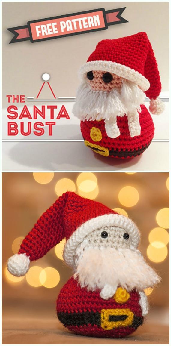Crochet The Santa Bust Amigurumi Free Pattern - #Crochet; #Santa Clause Free Patterns
