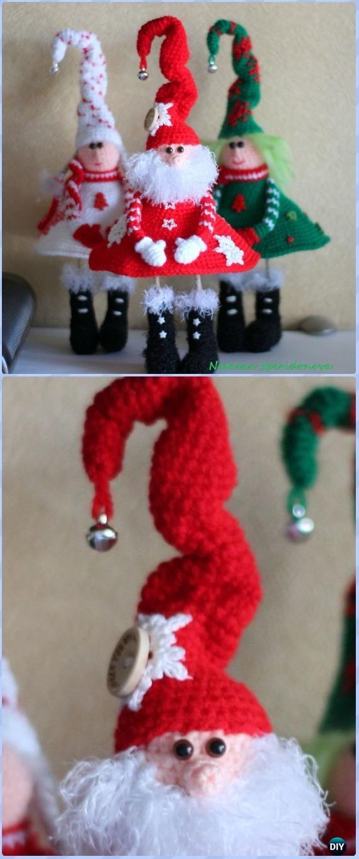 Original Crochet Santa Claus in Boots Free Pattern - Crochet Santa Clause Free Patterns