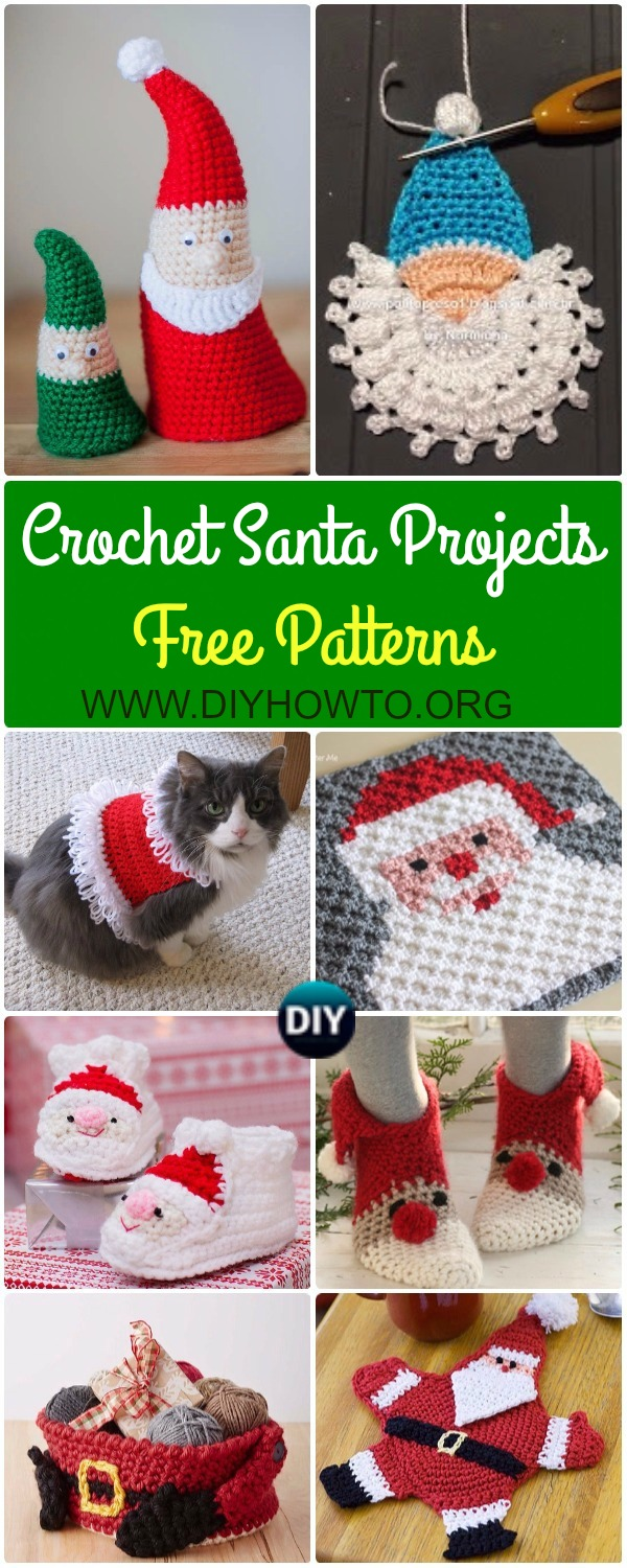 Crochet Santa Clause Ideas and Projects Free Patterns