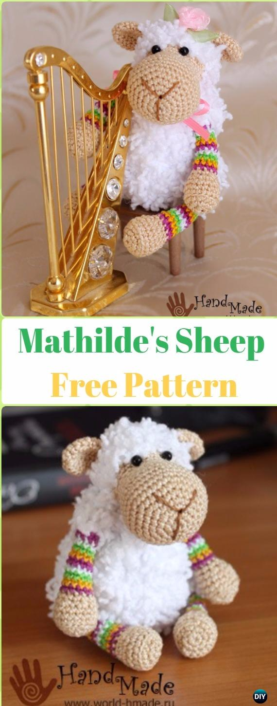 Amigurumi Mathilde's Sheep Free Pattern - Crochet Sheep Free Patterns