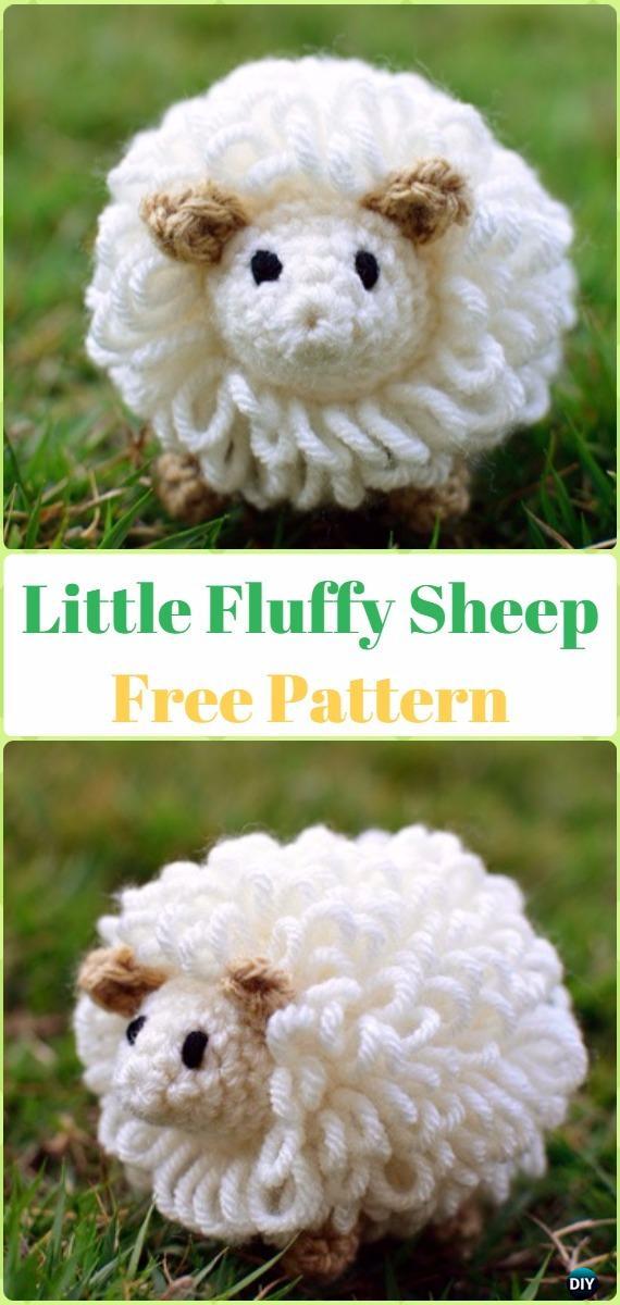 Amigurumi Little Fluffy Sheep Free Pattern - Crochet Sheep Free Patterns