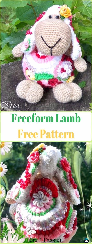 Freeform Crochet Lamb Amigurumi Free Pattern - Crochet Sheep Free Patterns