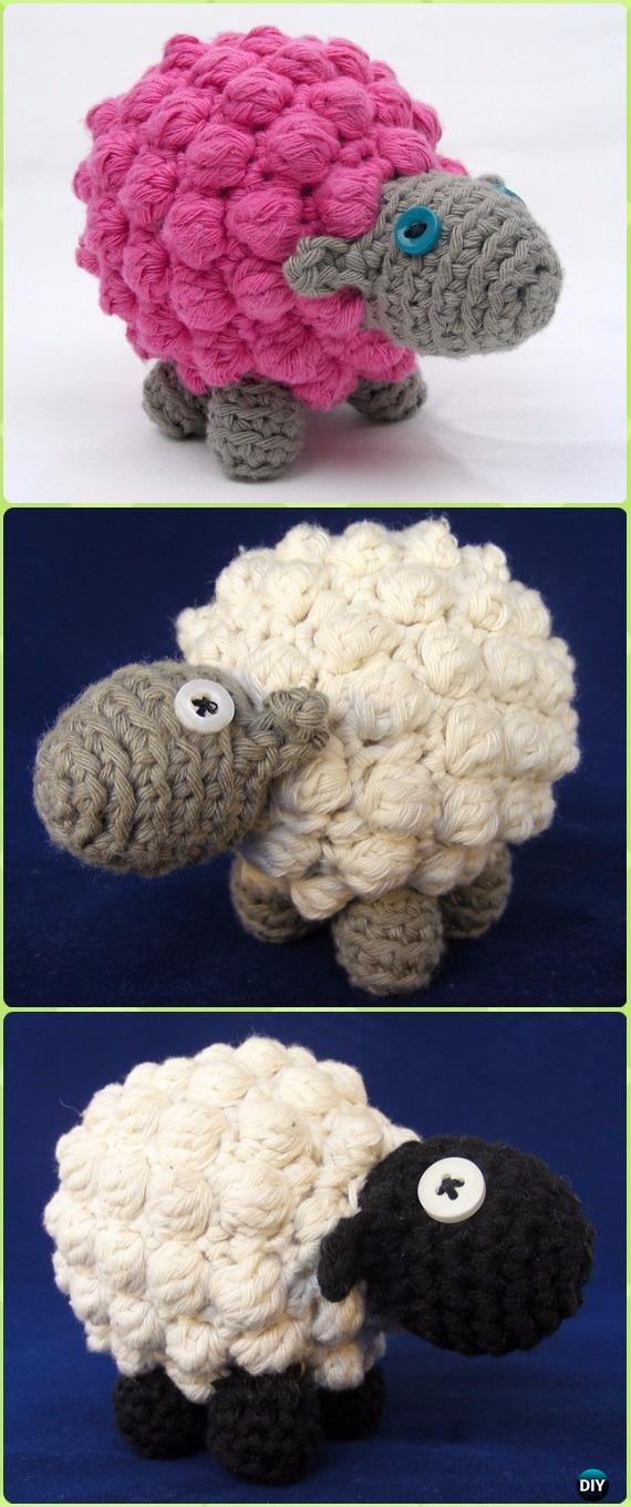 Crochet Bobble Sheep Amigurumi Free Pattern - Crochet Sheep Free Patterns