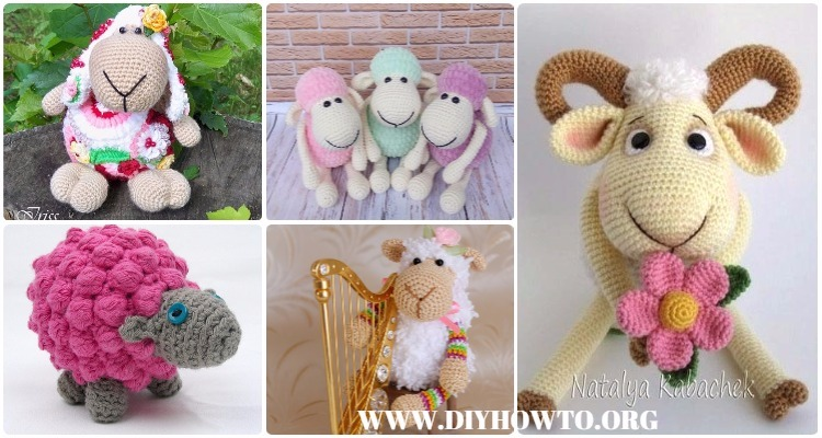Free Amigurumi Lamb : Amigurumi crochet sheep toy softies free patterns