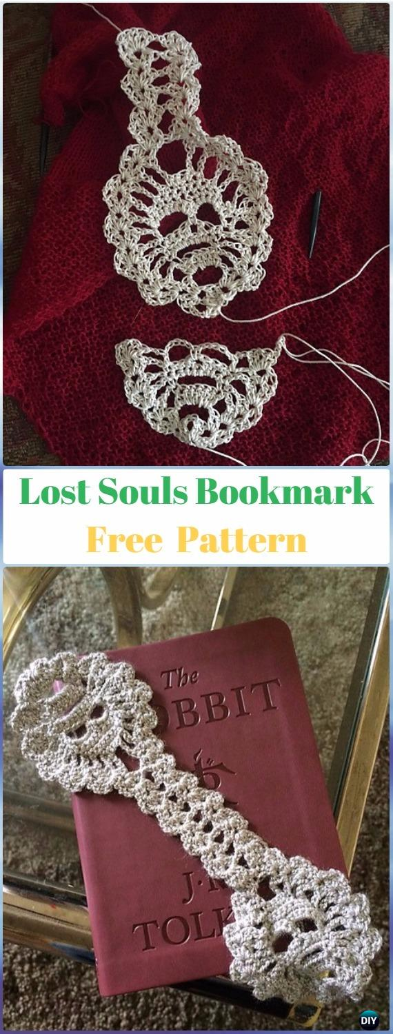 Crochet Lost Souls Bookmarker Free Pattern - Crochet Skull Ideas Free Patterns
