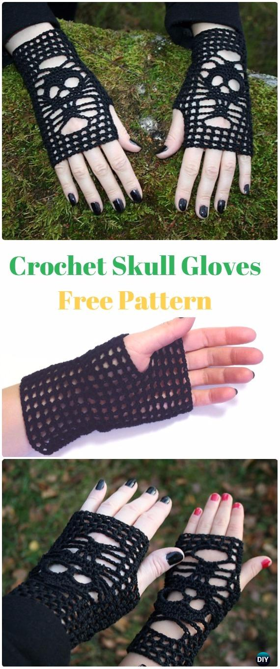 Crochet Skull Gloves Free Pattern - Crochet Skull Ideas Free Patterns