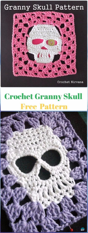 Crochet Granny Skull Free Pattern - Crochet Skull Ideas Free Patterns