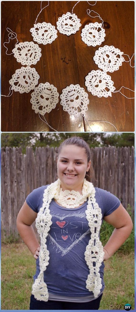 Crochet Lost Souls Scarf Free Pattern - Crochet Skull Ideas Free Patterns