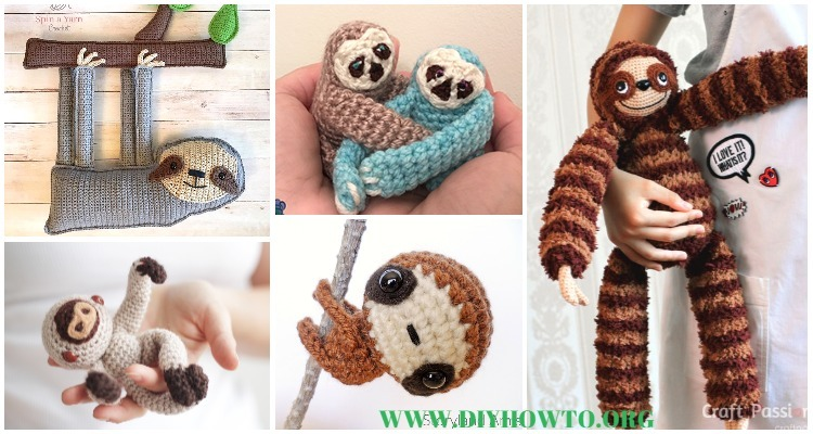 Free Amigurumi Sloth Pattern : Amigurumi crochet sloth toy softies patterns free paid