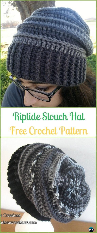 Crochet Riptide Slouch Hat Free Patterns -Crochet Slouchy Beanie Hat Free  Patterns 8560a69758d