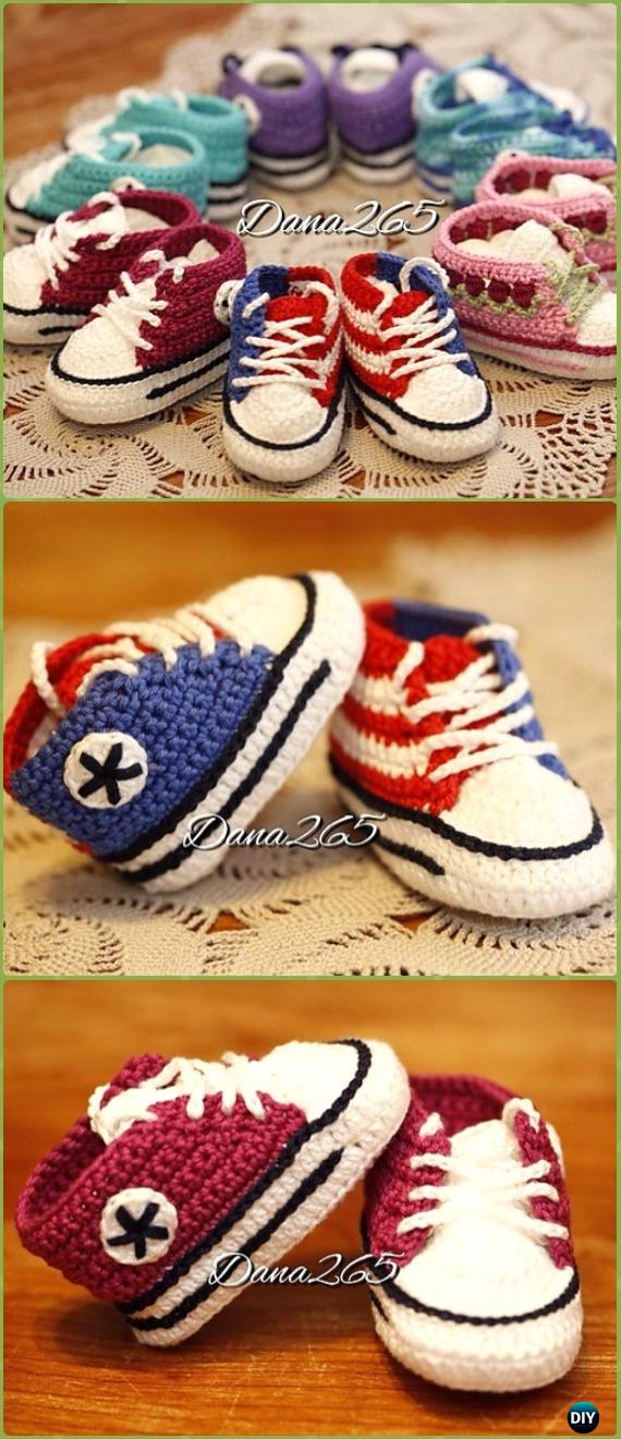 Crochet Baby Sneaker Slipper Booties Patterns