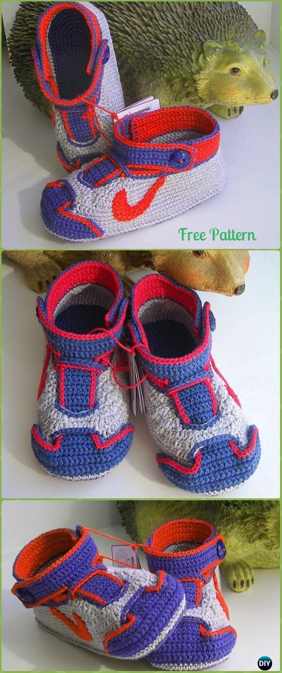 Crochet Sneaker Slipper Booties Free Patterns Paid Baby Shoes