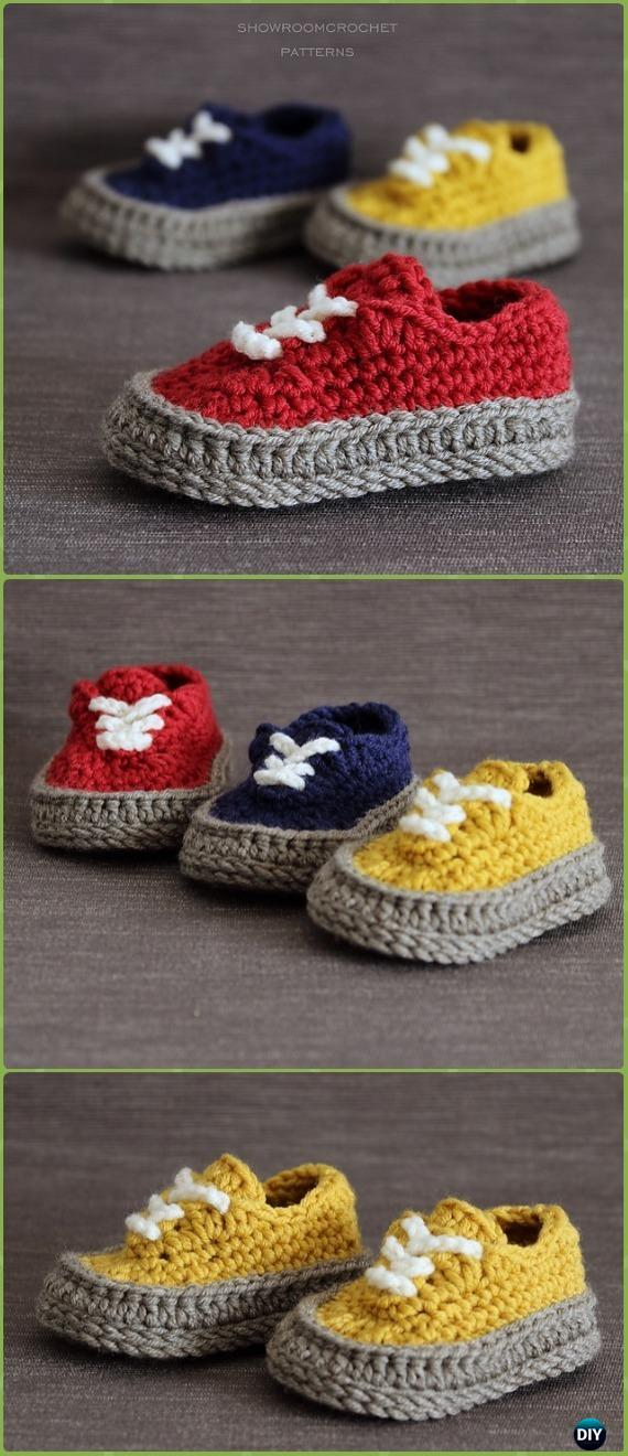 7814127ad32 Crochet Classic Baby Sneakers Paid Pattern - Crochet Sneaker Slippers  Patterns
