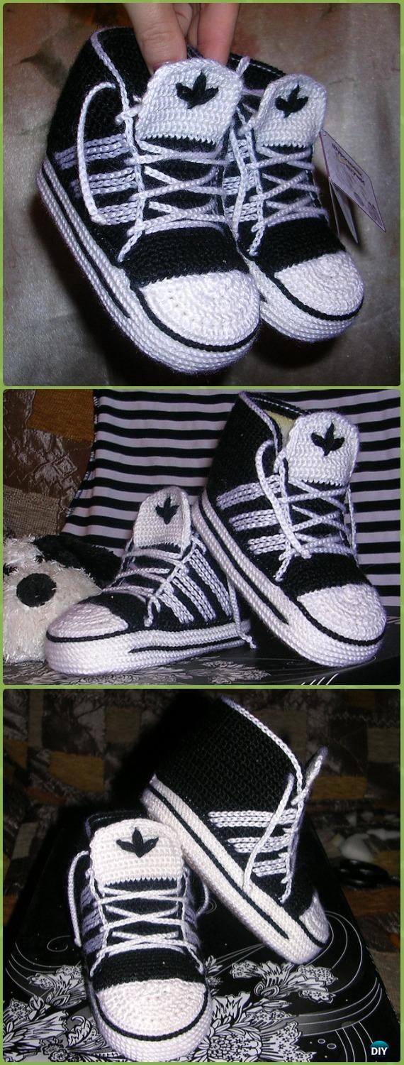 38595182584 Crochet High Top Adidas Baby Sneakers Free Pattern - Crochet Sneaker  Slippers Free Patterns