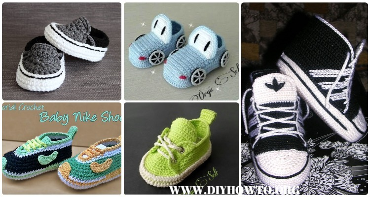 163f3db0bc6 Crochet Sneaker Slipper Booties Free Patterns   Paid Baby Shoes