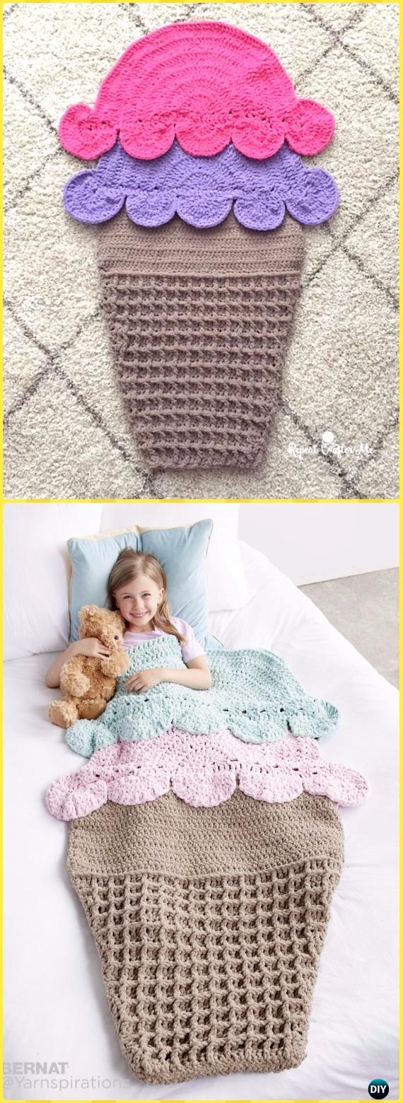 Crochet Double Scoop Snuggle Sack Free Pattern - Crochet Snuggle Sack & Cocoon Free Patterns