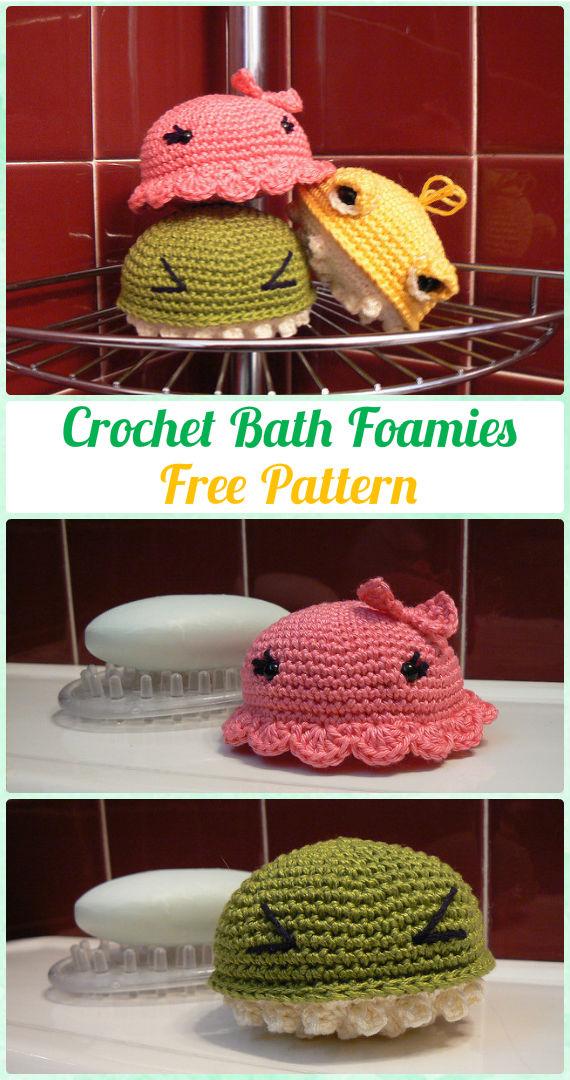Crochet BathFoamies Free Pattern - Crochet Spa Gift Ideas Free Patterns