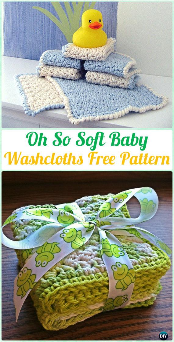 Crochet Oh So Soft Baby Washcloths Free Pattern - Crochet Spa Gift Ideas Free Patterns