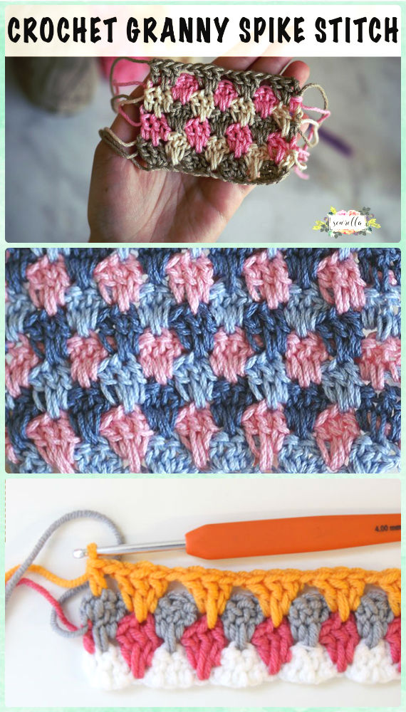 Crochet Granny Spike Stitch Free Pattern [Video]