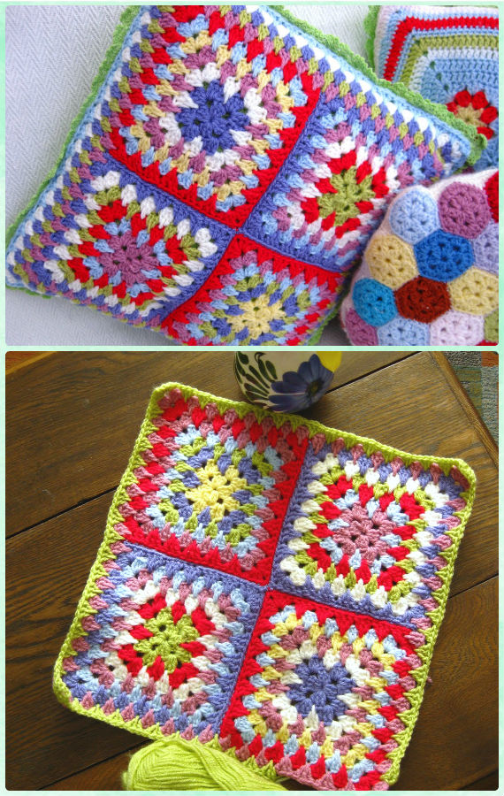 Crochet Granny Spike Stitch Square Free Pattern