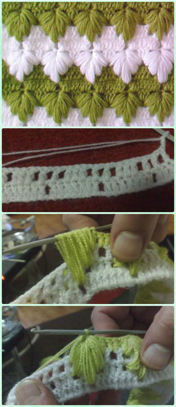 Crochet Spike Stitch Free Patterns Instructions