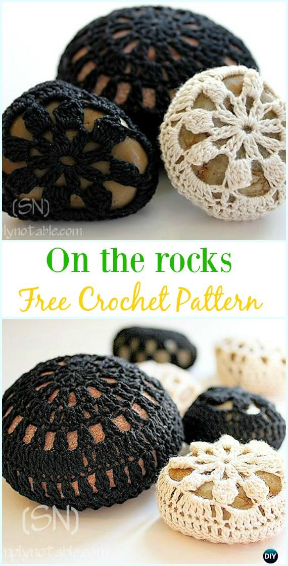 Crochet On the Rocks Free Pattern-#Crochet; Pebble #Stone; Cozy Free Patterns