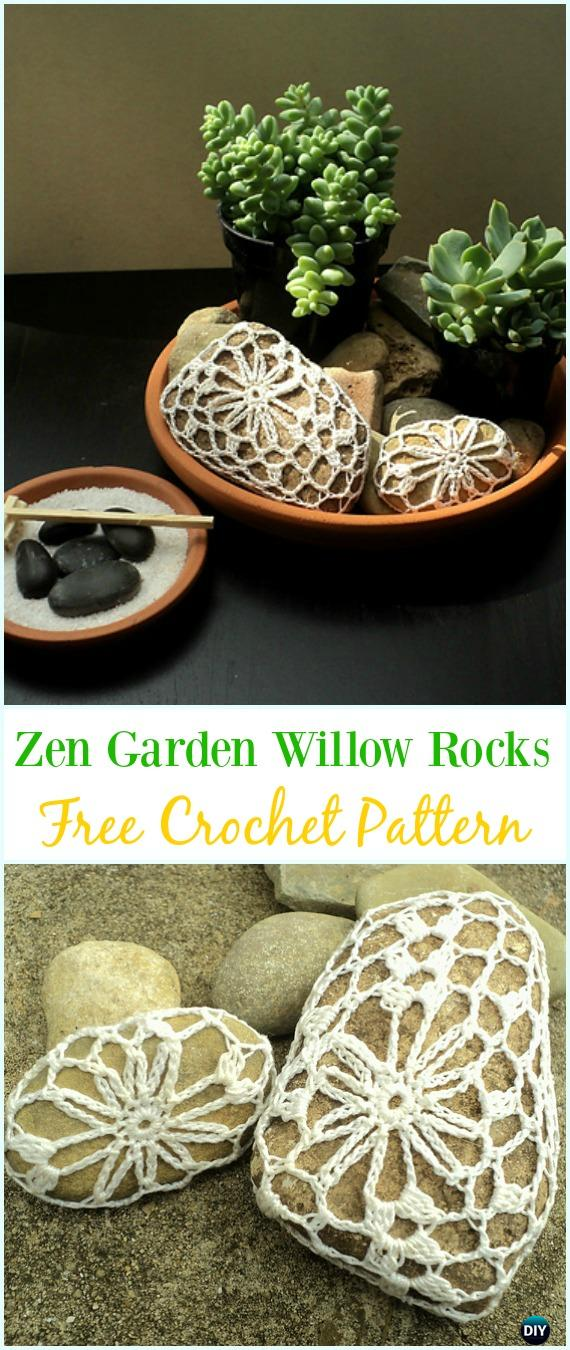 Crochet Zen Garden Willow Rocks Free Pattern-#Crochet; Pebble #Stone; Cozy Free Patterns