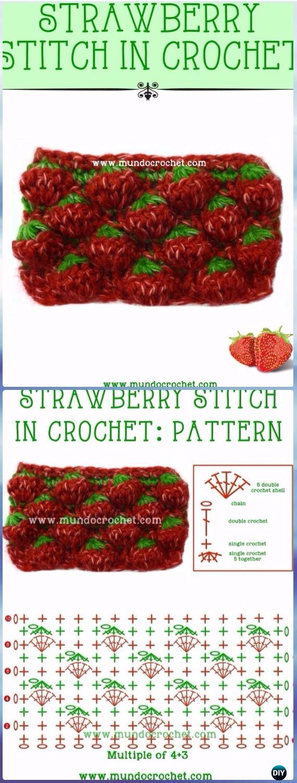 Easy Crochet Strawberry Stitch Chart & Free Pattern-Crochet Strawberry Stitch Free Patterns