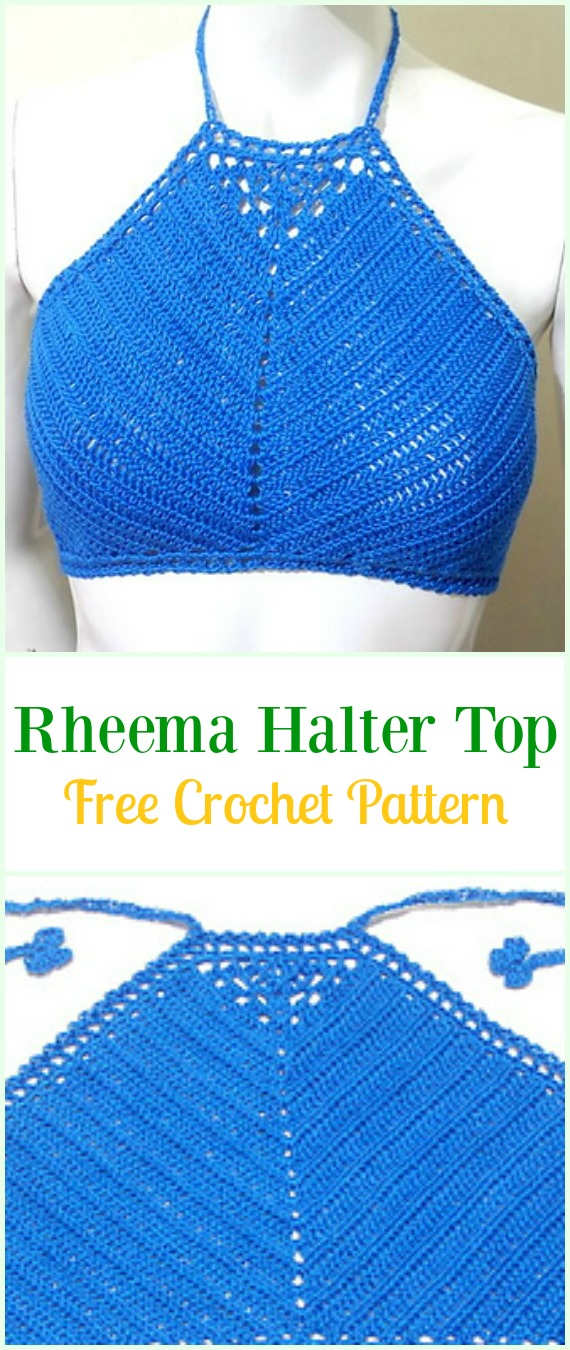 Crochet Rheema Halter Top Free Pattern Video-#Crochet Summer Halter #Top Free Patterns