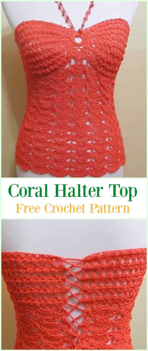 Crochet Summer Halter Top Free Patterns