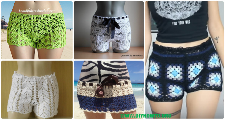 Crochet Summer Shorts Pants Free Patterns Adult Size Instructions