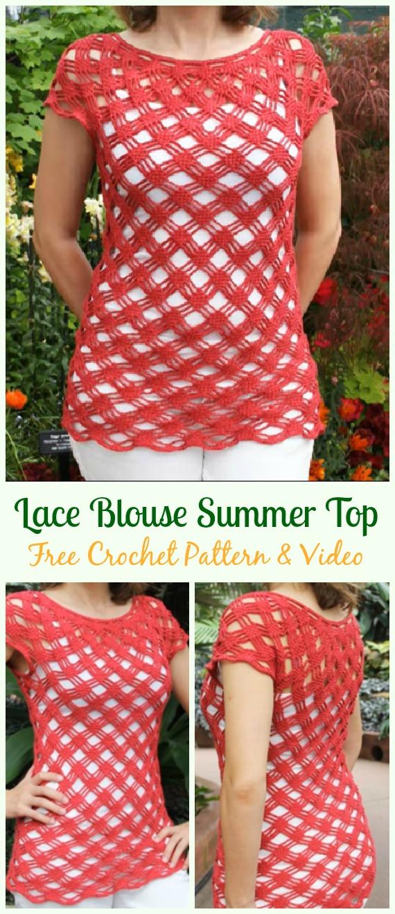 Crochet Women Summer Top Free Patterns