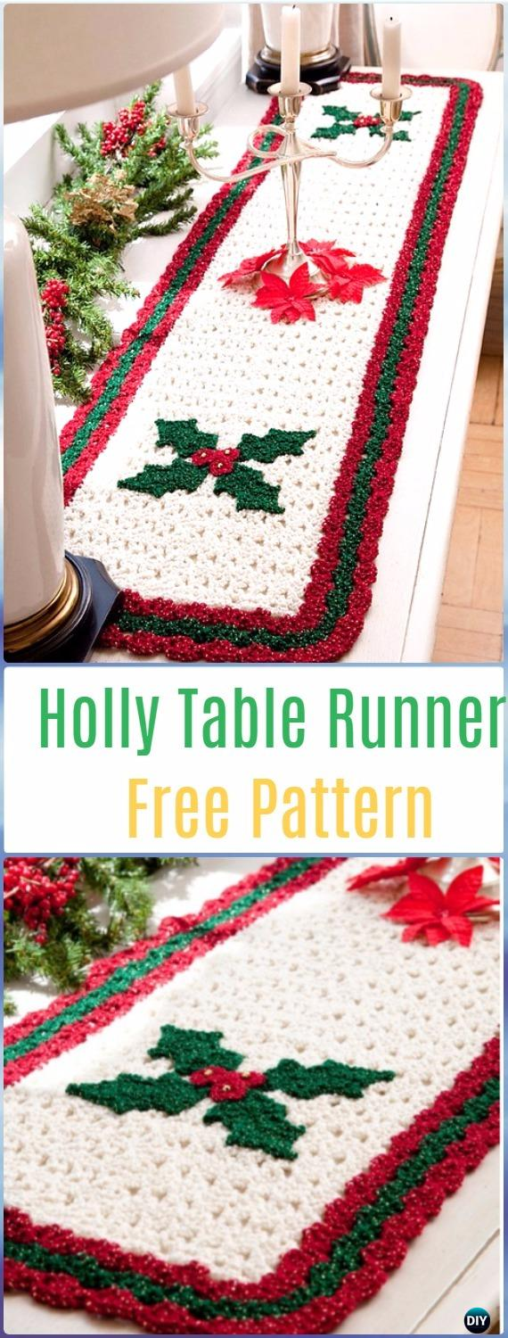 Christmas Table Runner Diy.Crochet Table Runner Free Patterns Tutorials